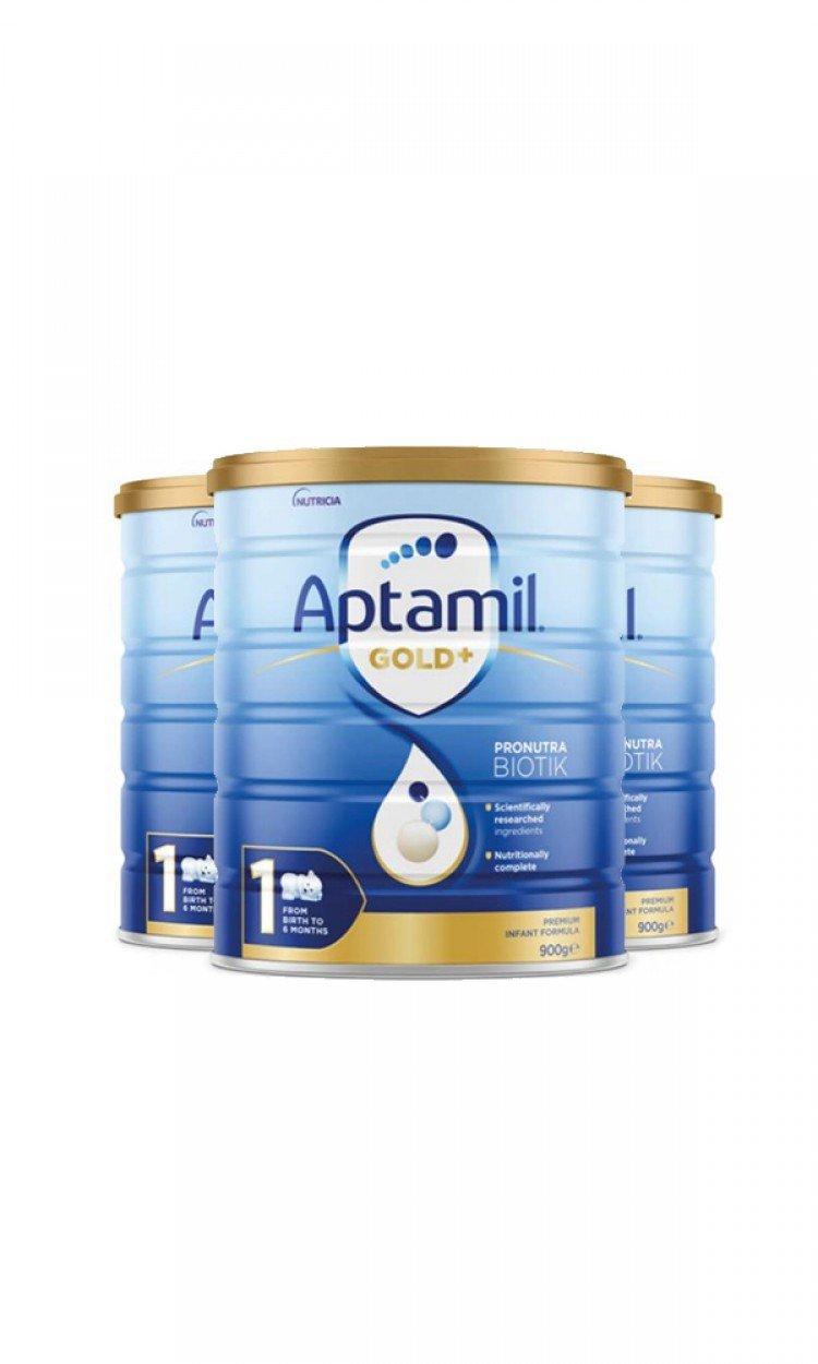 【APTAMIL】K1爱他美金装奶粉1段3罐(澳洲直邮)保质期:12/2022