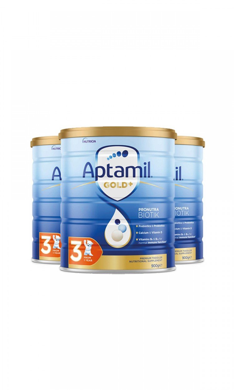 【APTAMIL】K3爱他美金装奶粉3段3罐(澳洲直邮)保质期:01/2023